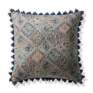 Mosaic Vibe Jade Outdoor Pillow
