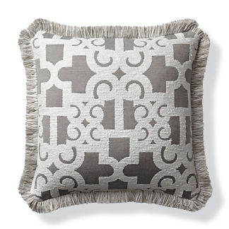 Oriental Gate Dove Outdoor Pillow