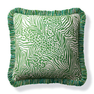 Patchwork Wilds Kiwi Indoor/Outdoor Pillow