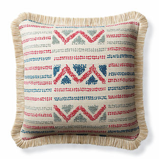 Porto Novo Fuchsia Outdoor Pillow