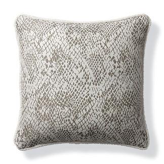 Techno Skin Pewter Outdoor Pillow