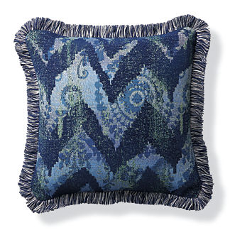Wayward Travels Indigo Outdoor Pillow