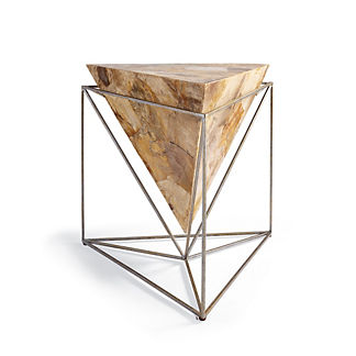 Petrified Wood Pyramid Table by Porta Forma
