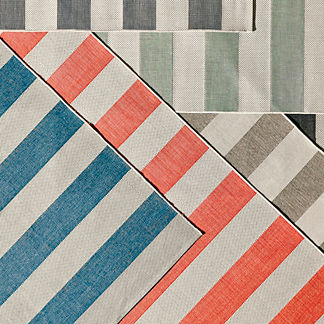 Resort Stripe Outdoor Rug