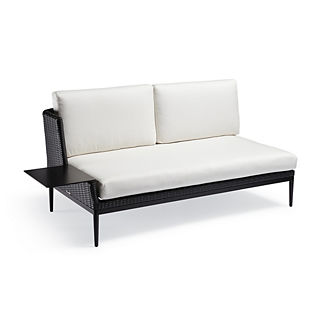 Palazzo Carbon Left-facing Sofa with Table, Special Order
