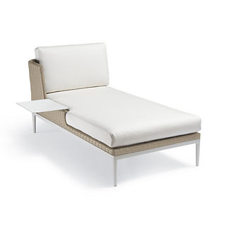 Palazzo Shell Left-facing Chaise with Table, Special Order