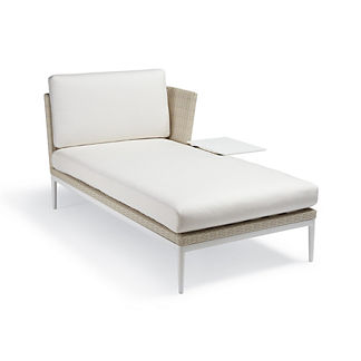 Palazzo Shell Right-facing Chaise with Table