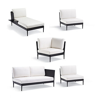 Palazzo Carbon 5-pc. Left-facing Chaise with Table Set