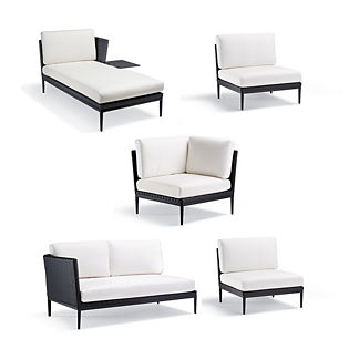 Palazzo Carbon 5-pc. Right-facing Chaise with Table Set