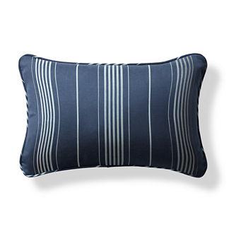 Byway Navy Outdoor Lumbar Pillow