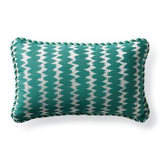Dawei Stripe Jade Outdoor Lumbar Pillow