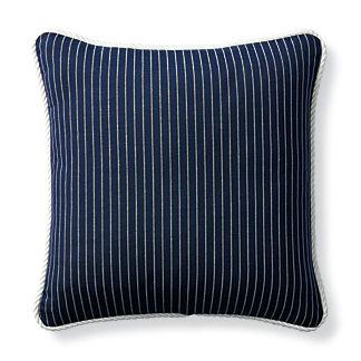 Cara Stripe Indigo Outdoor Pillow