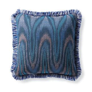 Luminous Ikat Indigo Outdoor Pillow