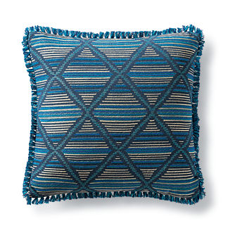 Tribal Craft Peacock Outdoor Pillow