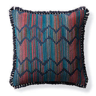 Zephyr Chevron Fuchsia Outdoor Pillow