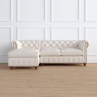 Barrow Chesterfield 2-pc. Left Arm Facing Chaise Sectional, Special Order