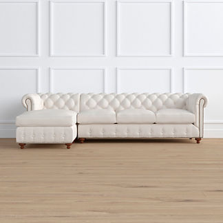 Barrow Chesterfield 2-pc. Left Arm Facing Chaise/Sofa Sectional, Special Order