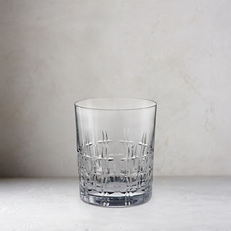 Aubrey Cut Crystal Double Old Fashioned Glasses, Set of Two