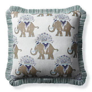 Elephant Chic Sky Outdoor Pillow
