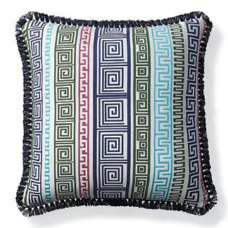 Athena Stripe Caribbean Outdoor Pillow