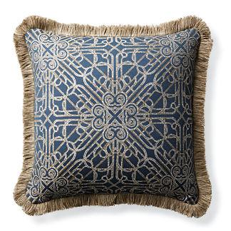 Orsini Gate Navy Outdoor Pillow