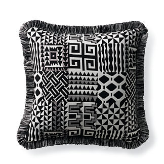 Quilted Colors Onyx Outdoor Pillow
