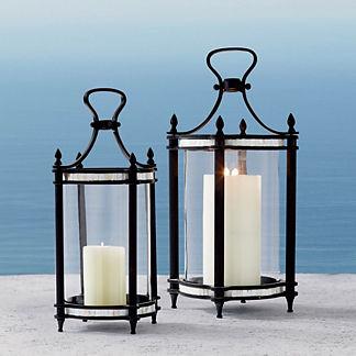 Metal candelabra outdoor lighting frontgate rimini lantern workwithnaturefo