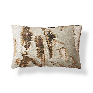 Mermaid Sequin Champagne Lumbar Pillow