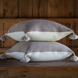 Reversible Pom Pom Pillow