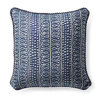 Nishiki Stripe Navy Outdoor Pillow