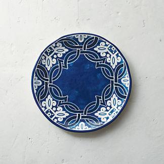 Mediterranean Tile Dinner Plates, Set of Four