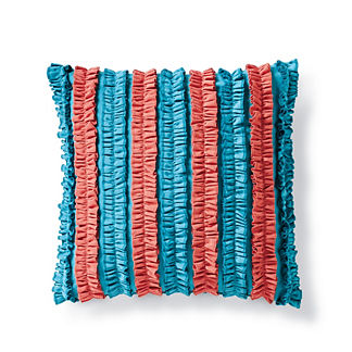 Ruffled Stripes Outdoor Pillow