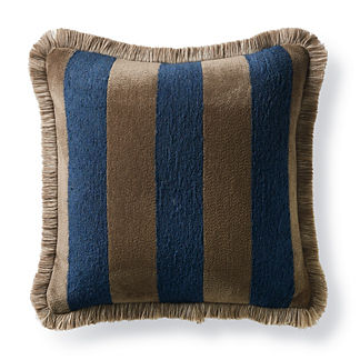 Caicos Stripe Navy Outdoor Pillow