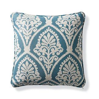 Timeless Ikat Celadon Outdoor Pillow