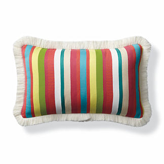 Veneta Stripe Paradise Outdoor Lumbar Pillow