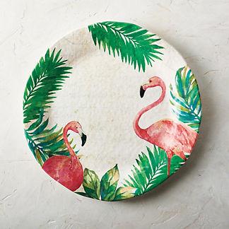 Flamingo Melamine Serving Platter