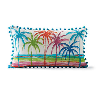 Handpainted Palm Trees Outdoor Pillow