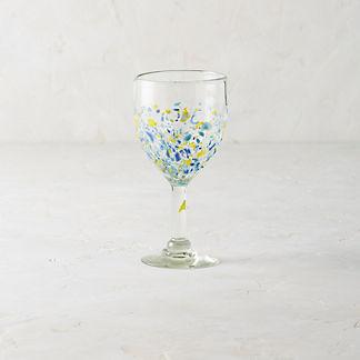 Confetti Wine Goblets, Set of Four