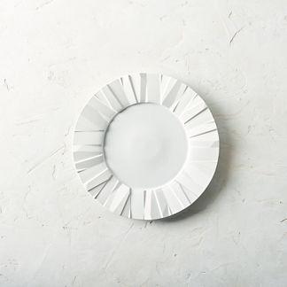 Matrix Porcelain Dinner Plates, Set of Four
