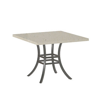 Superstone Travertine Square Dining Table by Summer Classics