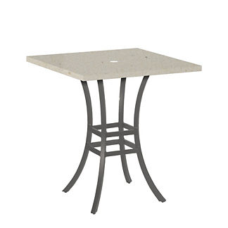 Superstone Travertine Square Bar Table by Summer Classics