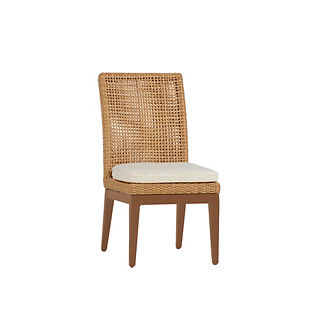 Peninsula Wicker Dining Side Chair by Summer Classics