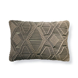 Serena Lumbar Macrame Ombre Decorative Pillow