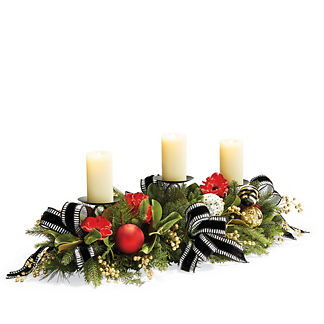 Hadley Place Three Candle Centerpiece