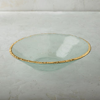 Edgy Gold Serving Bowl