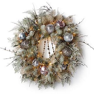 Violet Gray Wreath