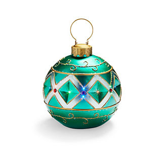 Fiber Optic LED Green Ornament