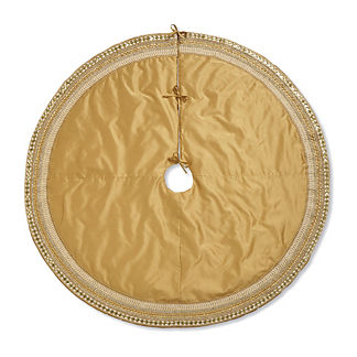 Silk Tree Skirt with Bejweled Trim