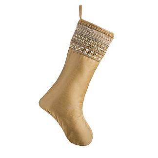 Gold Embellished Jewel Stocking
