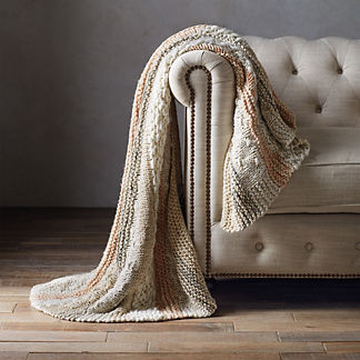 Noli Sequin Hand-knitted Throw